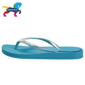 Image 3 - Hotmarzz Women Summer Beach Slippers Slim Flip Flops Soft House Slippers Summer Sandals Ladies Shower Shoes