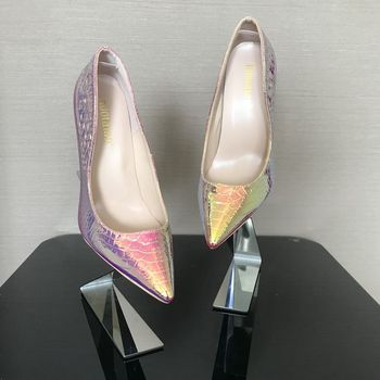 2019 New fashion woman shoes snake printing party wedding shoes big size 35-42 sexy pointed toe high heels pumps women shoes 5