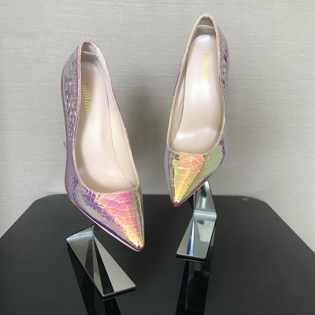 2019 New fashion woman shoes snake printing party wedding shoes big size 35-42 sexy pointed toe high heels pumps women shoes