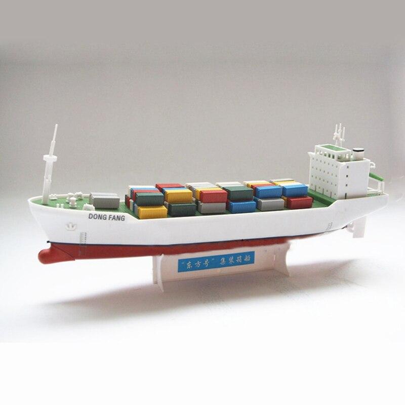 Oriental électrique alimenté conteneurs navires assemblage modèle Kits bricolage jouets éducatifs apprendre navire Structure enfants cadeaux
