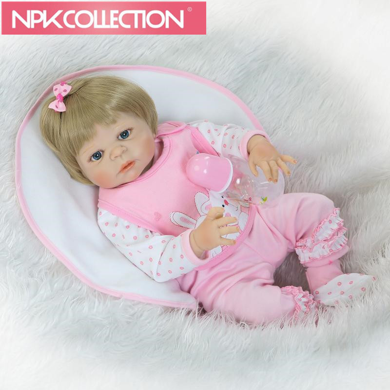 Lifelike Reborn Baby Menina Alive 23'' Newborn Baby Dolls Full Silicone body Wear bebe Infant Clothes Truly Kids Playmates N189 23 russian silicone reborn baby girl full body vinyl dolls touch real baby dolls lifelike real hair new 2017 kids playmates