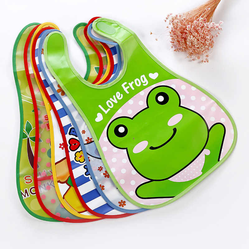 Cartoon Baby Bibs Eva Waterproof Newborn Bandanas Feeding Baby Burp Cloths Girls Boys Saliva Towel Print Apron EVA Bandana