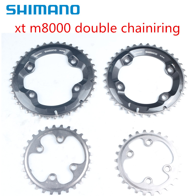 Shimano Deore XT M8000 double chainring 38 28 36 26 34 24t-in Bicycle Crank & Chainwheel from Sports & Entertainment