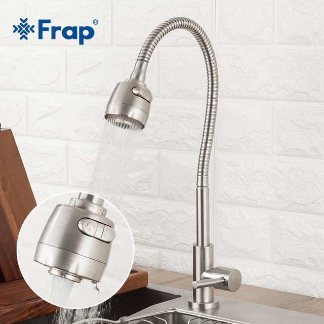 Frap 304 stainless steel Kitchen Faucet Single Handle Single Hole Kitchen Mixer Sink Tap Kitchen Single Cold Water Faucet Y40529