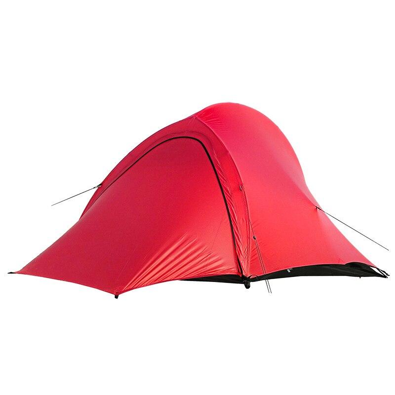 Les spiritueux gratuits TFS PANGOLIN2.0 revêtement en silicone unilatéral 2 personnes 3 saisons ultra léger imperméable Camping tente étiquette noire - 5