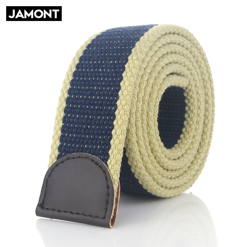Hot Tactical Canvas   Belt   Body Men Women Thicken 4MM Military Width 3.8CM Designers High quality 110-160 cm No Buckle