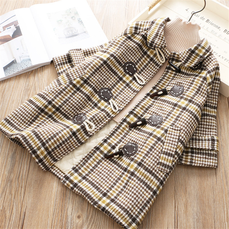 Kids girl overcoat new fashion Plaid wool coat for girls Teens Spring autumn Fall jacket long outerwear Children Windproof 7yearKids girl overcoat new fashion Plaid wool coat for girls Teens Spring autumn Fall jacket long outerwear Children Windproof 7year