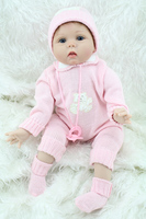 Silicone reborn baby dolls pink girl high-grade lifelike Christmas gift brinquedos for kids children newst design
