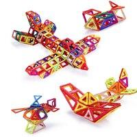 Mini 252Pcs Set Models Building Toy Magnetic Designer Educational Building Blocks Plastic Assemble Enlighten Bricks Kids