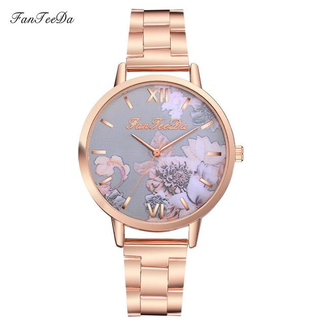 FanTeeDa Relogio Feminino Luxury Watch Women Fashion Casual Watch Full Stainless