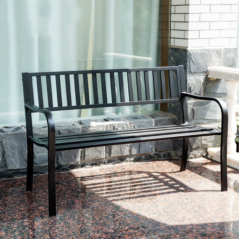 Courtyard Iron Lounge Chair Outdoor Balcony Chair, Double Chair, Park Back  Chair Leisure Bench In Patio Benches From Furniture On Aliexpress.com |  Alibaba ...