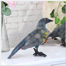 WYZHY Simulation feather cuckoo bird specimen home decoration ornaments Christmas gift  26CMx9CMx16CM