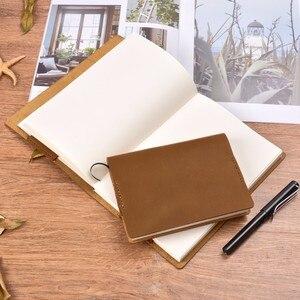 Image 5 - Винтажная Подлинная кожаная записная книжка календарь, чехол А5 А6 размера, защитный чехол для журнала ручной работы, органайзер для набросков из воловьей кожи