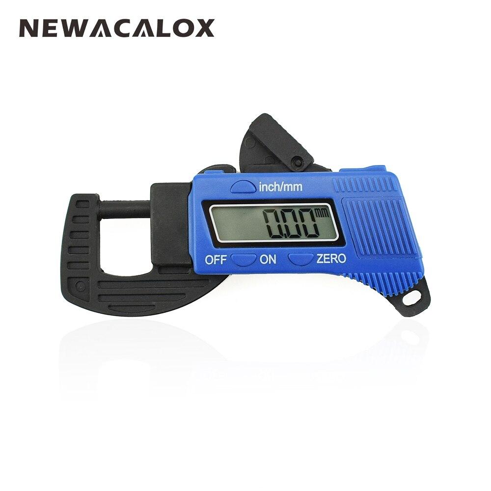 NEWACALOX 0.01mm Carbon Fiber Composites Digital Thickness Caliper Micrometer Gauge Width Measuring Instruments thickness gauge deep throat measuring caliper 0 10 120mm depth