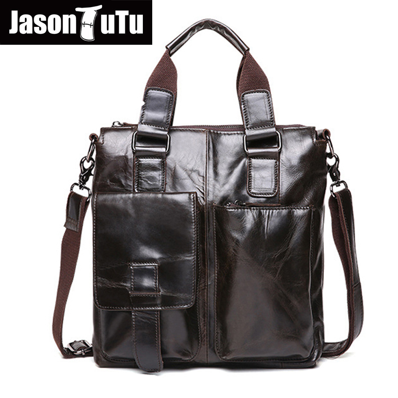 JASON TUTU 100% Guarantee Genuine Leather Handbag Men bag,Business Shoulder bags for men ,small messenger bags HN253