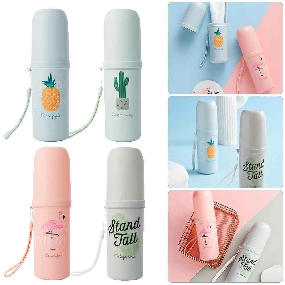 Фламинго ананас кактус буквы портативный домашний путешествия чашки зубная щетка держатель