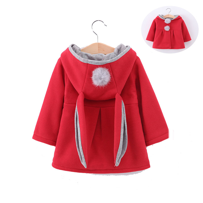 Children Clothing 2017 New Winter Hooded Baby Girl clothes Cute Rabbit Ear Coat Tops Kids Warm Jacket  Baby Wear Girls CoatsChildren Clothing 2017 New Winter Hooded Baby Girl clothes Cute Rabbit Ear Coat Tops Kids Warm Jacket  Baby Wear Girls Coats