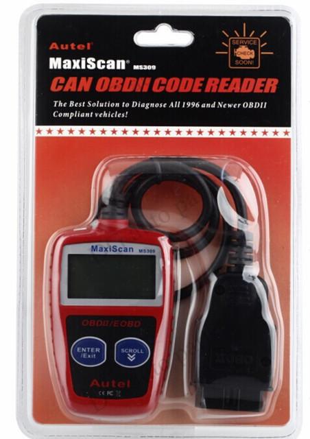 MS309 Universal Leitor de Código de Falha Do Carro CANBUS OBD2/EOBD Ferramentas de Diagnóstico Do Motor Do Carro Auto Scanner frete grátis