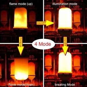 Image 2 - E26 E27 LED 炎効果火災電球 SMD2835 ちらつきエミュレーション 1 & 4 モード LED 炎ランプ E14 1200 18K 〜 1400 18K AC85V 〜 265V