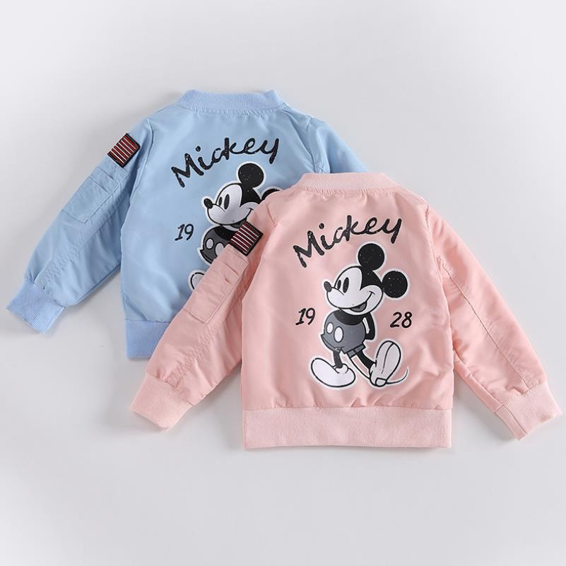New Mickey Jacket Clothing For Baby Girls Boys Coat Cartoon Printed Windbreaker Jacket Autumn Kids Outerwear Children Clothes