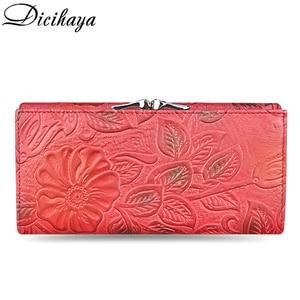 Image 3 - DICIHAYA Exclusive Design Leather Women Wallet Luxury Brand Design High Quality Women Purse Card Holder Long Clutch Phone Bag