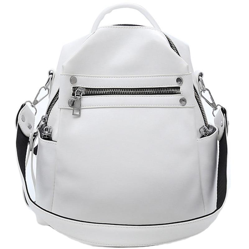 Women Backpacks School Backpack For Teenager Girls Shoulder Bag Daypack For Women Female Feminine Bag(White)