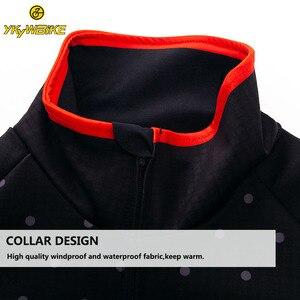 Image 4 - YKYWBIKE veste de cyclisme hommes hiver vêtements imperméables thermique polaire veste à manches longues haut de haute qualité avec 10 °c gamme