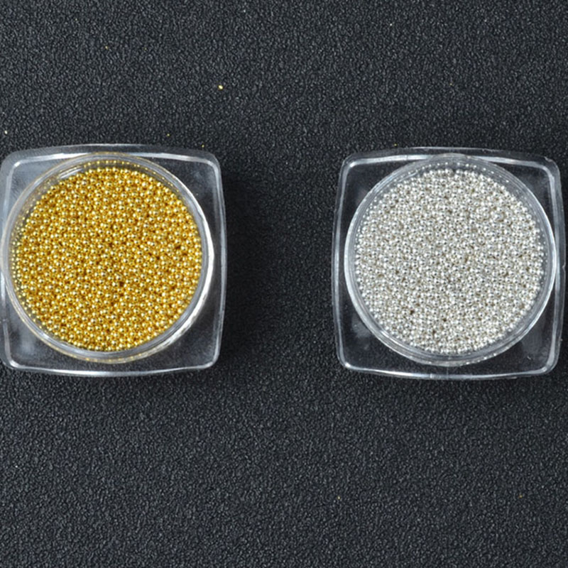 New Nail Art Decorations Gold Silver 1mm Micro Metal Steel Beads Unfading 3d Decors Manicure Pedicure Accessory Nail Beauty Gift