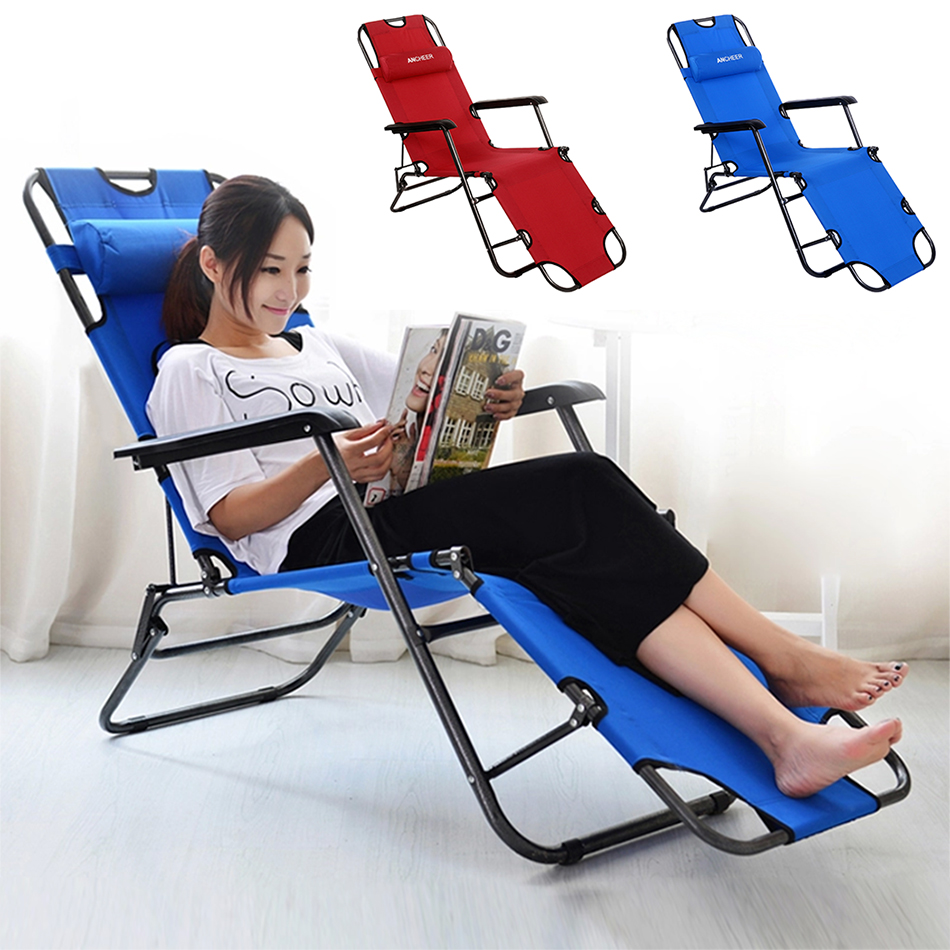 Beach lounge chair portable - Homdox Outdoor Furniture 178cm Desk Chair Longer Leisure Folding Beach Chair Stool Sling Recliner Camping Chairs