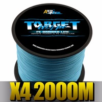 Ascon Fish 4 Strands Braided Fishing Line 2000m For Carp Fishing Accessories 4 Braid Multifilament Line
