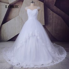 LORIE Vintage Victorian Wedding dress Sweetheart Beaded Ball Gown Cap Sleeve Bride Dress Backless Wedding Gown robe de mariee