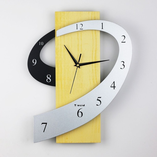 QiYue home decoration affton 3D wall clock creative clock wall watch ...
