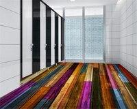 Beibehang Papel De Parede Decorative Interior Wallpaper Classic Retro Color Wooden Parquet Living Room Bathroom 3d