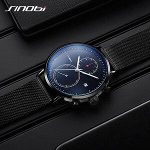 Image 4 - SINOBI 2020 New Multifunction Men Watch Fashion DIY Luminous Quartz Watch For Men Male Casual Sport Chronograph Stop Watch Clock