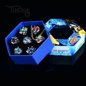 Модное Ювелирное кольцо 7 шт./компл., кольцо Katekyo Hitman Reborn Sawada Tsunayoshi, аниме Кольца для косплея, кольца vongoal для мужчин, женщин, детей, подарок