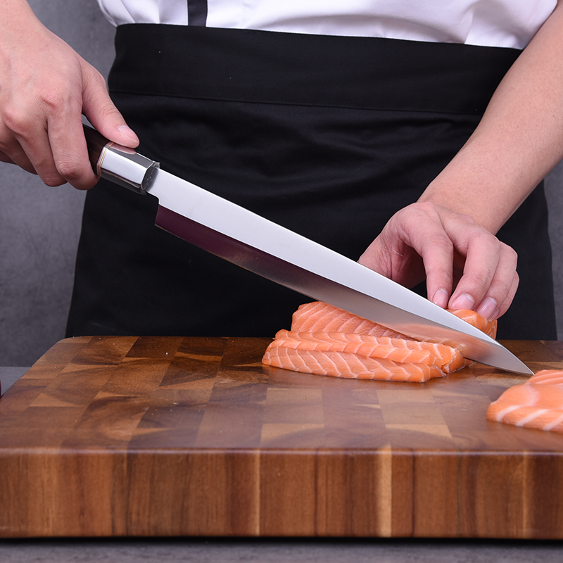 Japanese Yanagiba Knife Professional Chef Kitchen Knife Stainless Steel Knives Fish Filleting Sashimi Sushi Salmon Knives