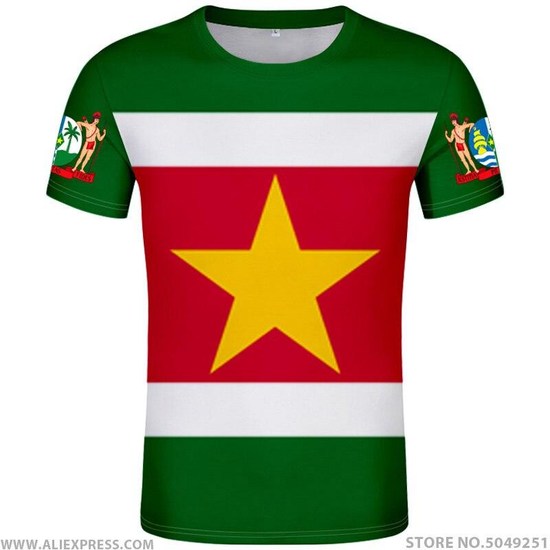 SURINAME T Shirt Diy Free Custom Name Number Sr T-shirt Nation Flag Dutch Sranan Sarnam Sur Country Print Photo Text Red Clothes