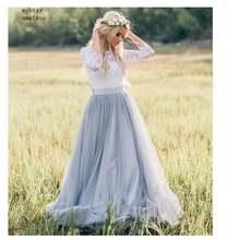 Дешевое свадебное платье в стиле бохо кружевное женское простое