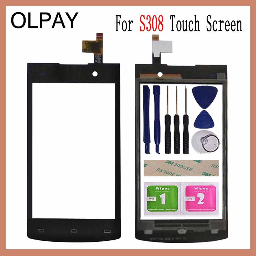 OLPAY 4.0'' For Philips Xenium S308 S301 Touch Screen Glass Digitizer Panel Lens Sensor Glass Free Adhesive And Wipes