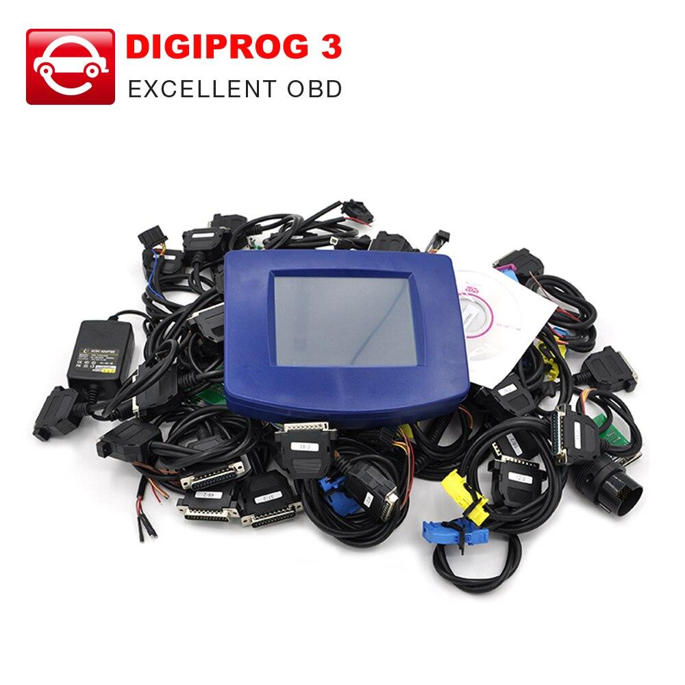 Prix pour Haute qualité Digiprog III Digiprog 3 Odomètre Programmeur V4.94 Version Kilométrage correction outil + tous les câbles ensemble complet DHL livraison