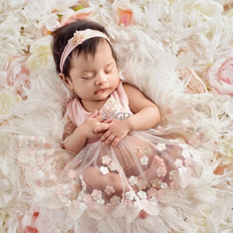 2017 Cute Newborn Baby Girls Tulle Embroidery Flower Dress ...