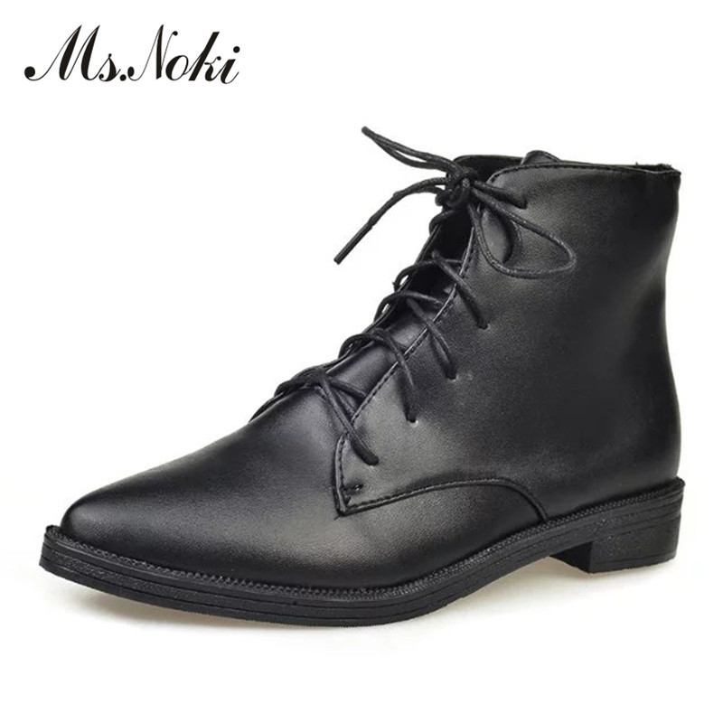 pointed toe lace up women ankle boots fashion ladies autumn winter flat heels cuasual boots shoes woman motorcycle short booties front lace up casual ankle boots autumn vintage brown new booties flat genuine leather suede shoes round toe fall female fashion