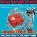 Сигма коробка с 9 кабели с Колодой 2 активации для t MTK-Motorola, Alcatel, Huawei, ZTE,