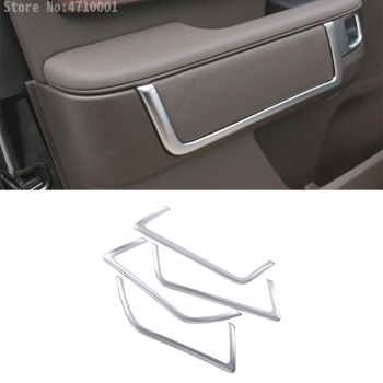 Car Interior Door Decoration Strips Trim For Land Rover Discovery 5 2017 ABS Chrome Accessories Styling