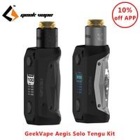 Original GeekVape Aegis Solo Tengu Kit Electronic Cigarette 100W Box Mod Vape with Tengu RDA E cigs Vape Kit vs aegis legend kit
