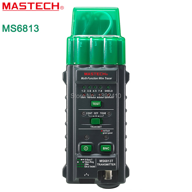 MASTECH MS6813 Network Cable Telephone Line Tester Detector Transmitter RJ45  детектор mastech ms6810