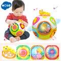 HOLA 938 bebé juguetes niño arrastrarse juguete con música y luz enseñar forma/Número/Animal niños de Aprendizaje Temprano juguete educativo regalo