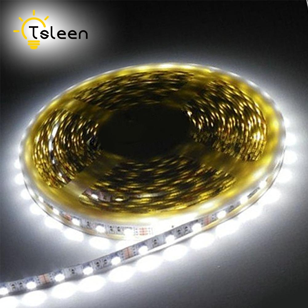 Cheap IP65 Waterproof RGB LED Strip Flexible Lights DC12V SMD 5050 3528 300LED 1M 60LED 5M Lampada LED Light Tape Ribbon Lamp