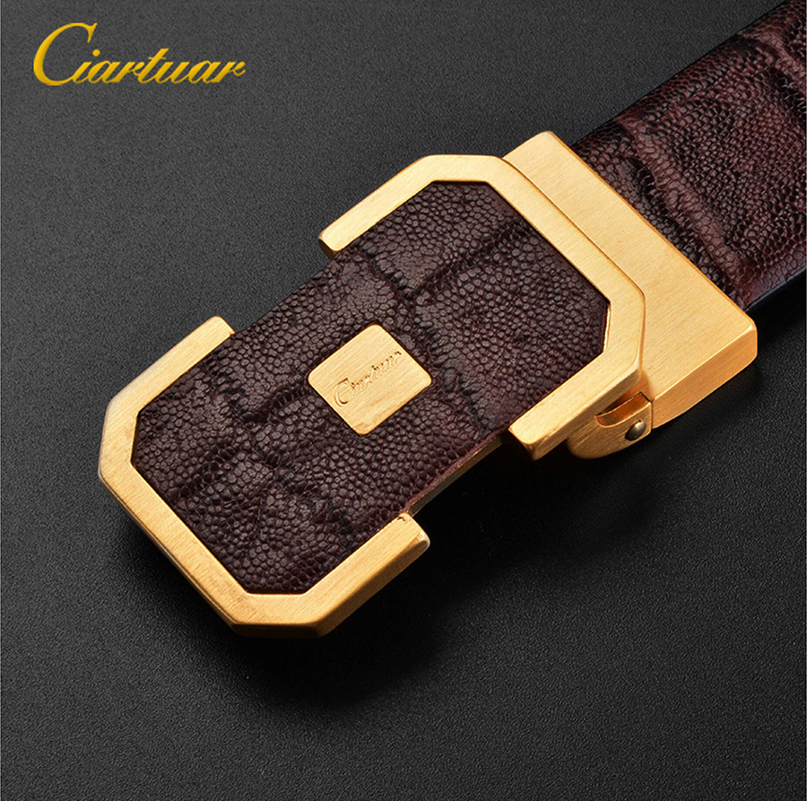 2019 Ciartuar official store new fashion   belt   men genuine leather strap high quallity first layer luxury buckle free shipping