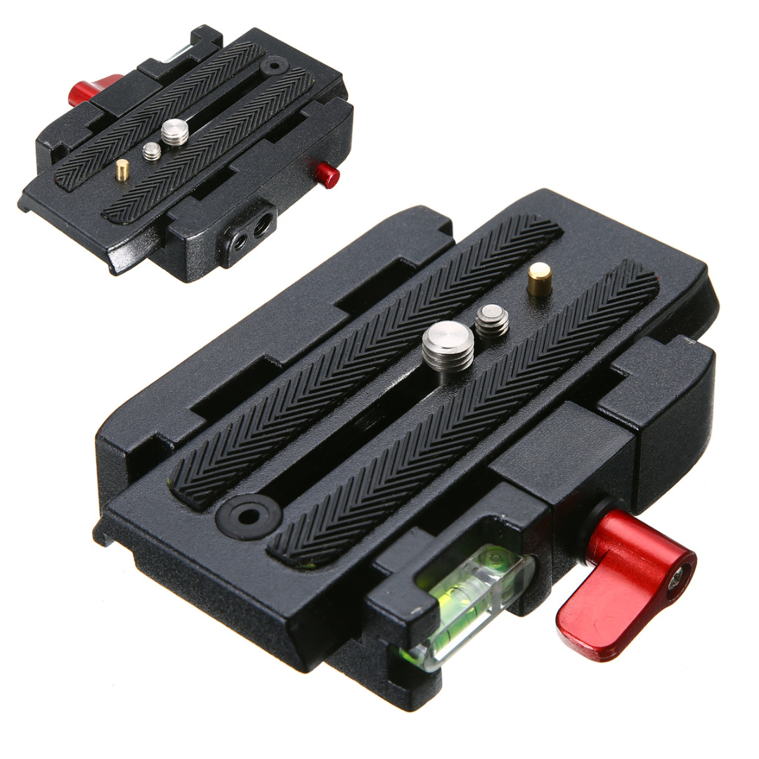 For Manfrotto 501 500AH 1pc P200 Quick Release Plate Universal Quick Release Mount Clamp Adapter with Side Plate Mayitr